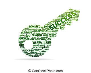 palabras, -, llave, éxito