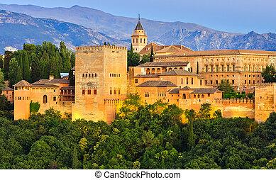 Palacio Alhambra, granada, España