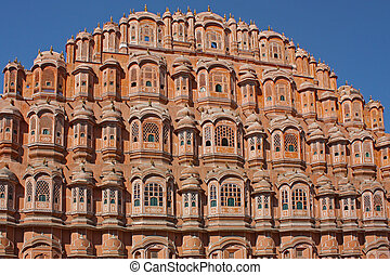 palacio, jaipur, mahal, india, hawa, rajasthan, vientos