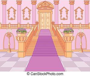 palacio, magia, escalera, lujo