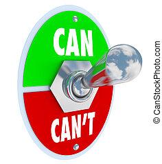 palanca, solución, interruptor, lata, cometido, o, can't, actitud