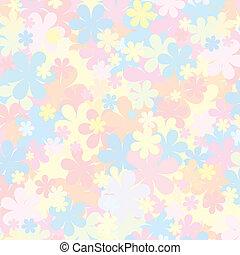 Pale floral. Pastel para diseño
