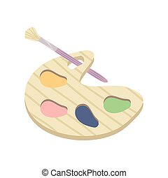 paleta, cepillo, color