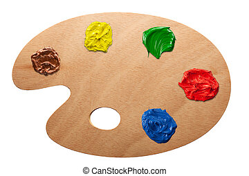 paleta, múltiplo, colores, artist's