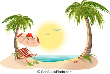 Palm Tree. Sombrilla de playa