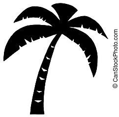Palma negra tres silueta