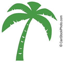 Palma verde tres silueta