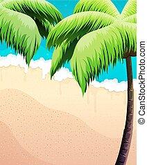 Palmeras, mar y arena