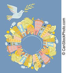Paloma de paz en el mundo