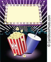 Palomitas de cine y soda