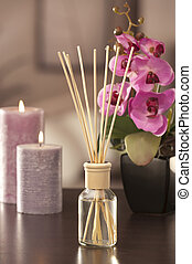 palos, backgr, ou, freshener, flores, foco, hogar, aire