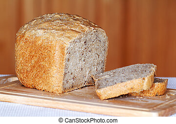 Pan de trigo con semillas