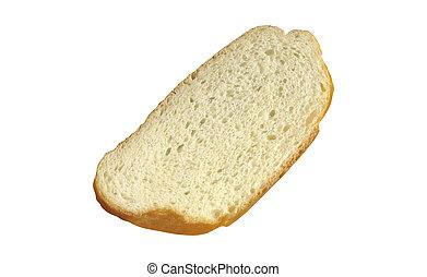 Pan Slice aislado en fondo blanco