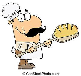 panadero, bread, hombre