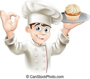 panadero, cupcake
