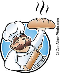 panadero, ilustración