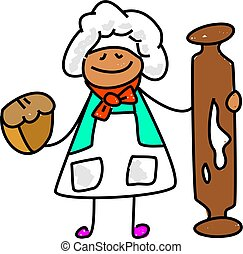 panadero, niño
