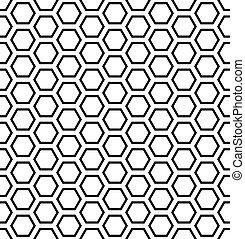 panal, pattern., hexágonos, geométrico, seamless