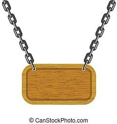 Pancarta de madera marrón. Textura de madera limpia