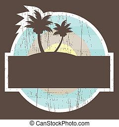 Pancarta de playa tropical