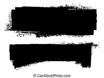 Pancarta de tinta negra