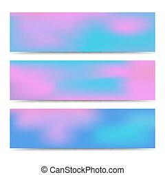 Pancartas de colores suaves y abstractos