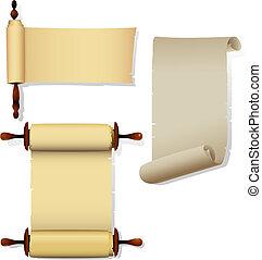 Pancartas de pergamino