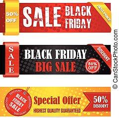 Pancartas de venta de Viernes Negro
