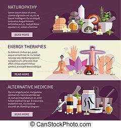 Pancartas medicinales alternativas