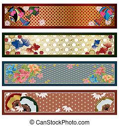 Pancartas tradicionales japonesas