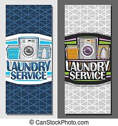 Pancartas Vector para el servicio de lavandería
