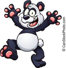 Panda de dibujos animados