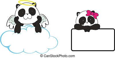 Panda oso, espacio de dibujos animados