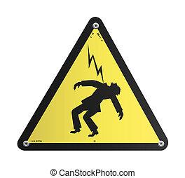 Panel de alto voltaje peligroso