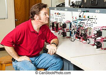 Panel de control de motores eléctrico