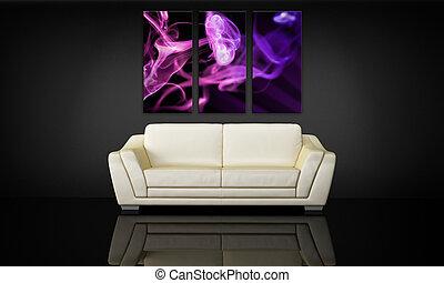 Panel de lona y decorativo