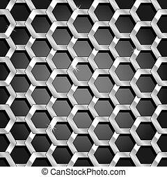 Panel de panal sin techo y patrones transparentes