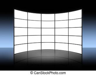 Panel de TV blanco
