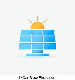 Panel solar con icono solar