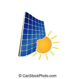 Panel solar con vector de color solar