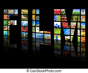 Paneles de TV. El concepto de la tecnología de producción de televisión