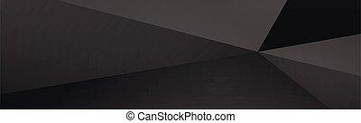 panorámico, fondo negro, líneas, oscuridad, roto