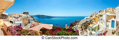 Panorama de Oia Village, Isla Santorini