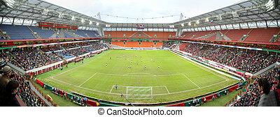 panorama, fútbol, estadio