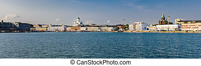 panorama, seafront, helsinki