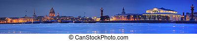 panorama, st. petersburg, rusia