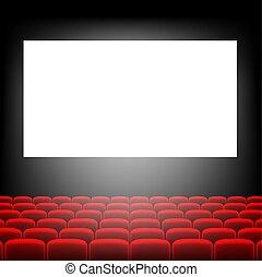 Pantalla de cine con pantalla