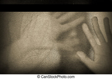 pantalla de la televisión, parpadeo