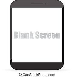 Pantalla en blanco de tableta de ordenador. Ilustración de vectores EPS10