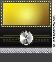 pantalla película, bandera, o
